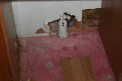 Another mystery pipe and some damaged drywall
