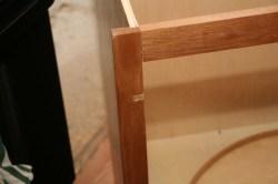 The corner cabinet got a bit damaged in shipping