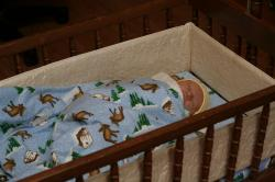 Spencer in the cradle