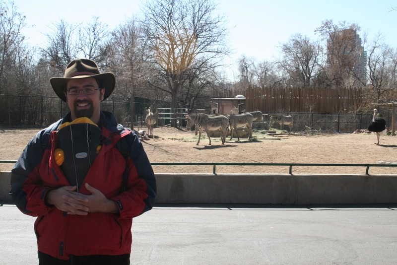 Rob and Spencer with zebras