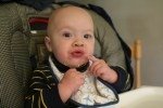 Oooh! I like eggs in my high chair