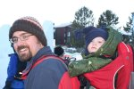 Rob and Spencer at the snow sculpture festival