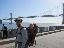 Rob and Spencer at the bay bridge