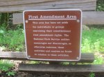 First amendment area at Muir Woods