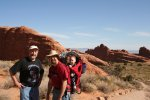 Dave, Rob, and Spencer by some cool rocks