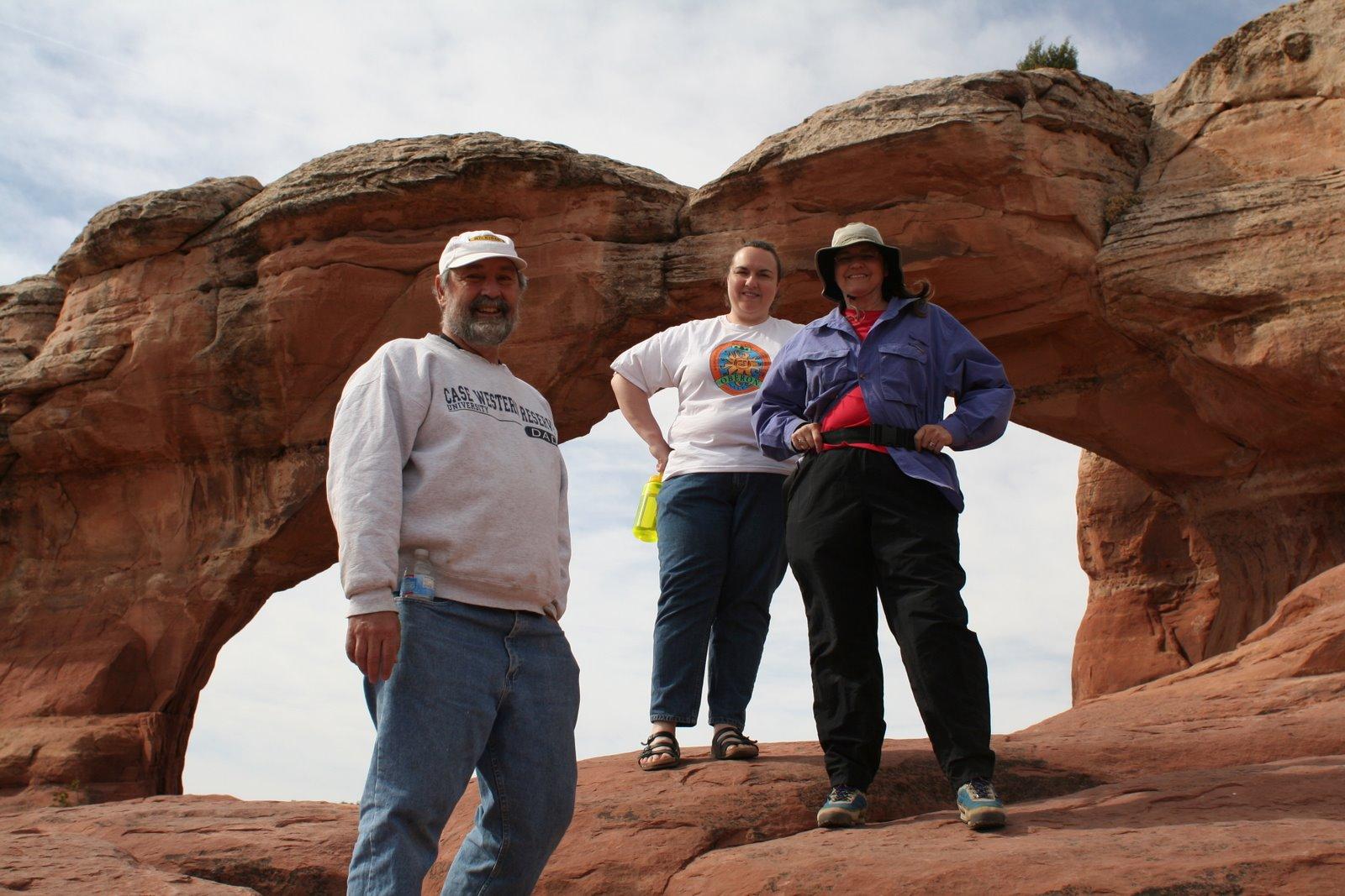 Dave, Clare, and Ellen at Broken Arch
