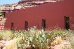 Adobe construction and desert plants