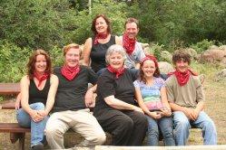 The Irving clan: top: Kristin Bill; bottom: Jenny, Thad, Jean Ann, Shannon, Billy