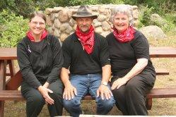 The Wolfe siblings: Ellen, John, and Jean Ann