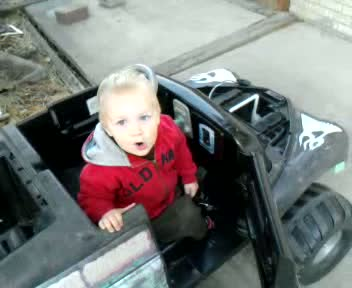 Spencer playing with grave digger