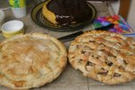 Dessert - apple pie, pear pie, and pumpkin cheesecake