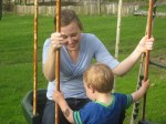 Jessica swinging with Spencer