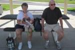 Fran, Harold, and Meg at the playground