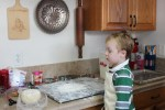 Checking out the dough