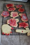 Finished cut-out cookies
