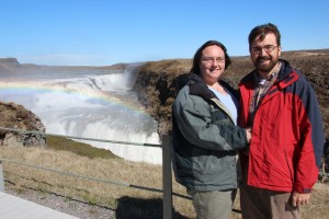 Rob and Clare at Gullfoss