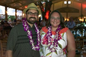 Clare and Rob at the Luau