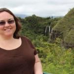 Clare at Opaekaa falls