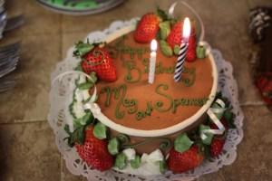 Happy birthday Meg and Spencer cake