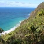 Napali coast and ocean