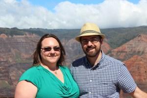 Clare and Rob at Waimea canyon
