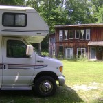 The RV parked at Twin Springs