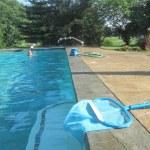 Ellen and Kathleen enjoy the pool