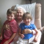 Spencer, Meg, and great grandma Dorothy