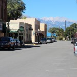 View of the mountains from downtown Salida