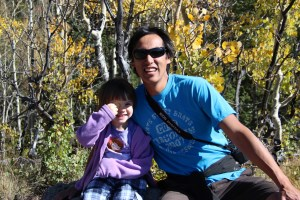 Meg and Rick on a hike