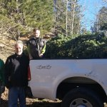 Spencer, Dave, and Rob wit the xmas tree in the truck