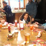 The kids are ready for Thanksgiving dinner!