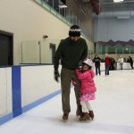 Meg trying ice skating