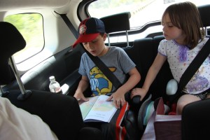 Spencer reading to Meg