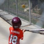 Spencer in the batting cages