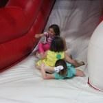 Bailey, Hadley, and Meg sliding