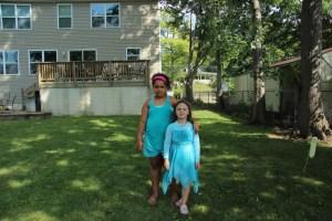 Sadie and Meg at the beach house