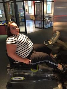 Clare exercising