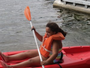 Sadie kayaking