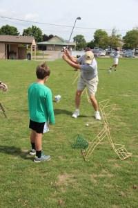 Harold demonstrates the proper swing