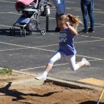 Sophia does the long jump