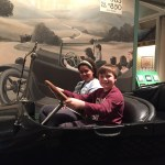 Sadie and Spencer in a 1917 Overland