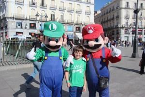 Spencer with Mario and Luigi at Puerta del Sol