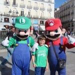 Spencer with Mario and Luigi at Puerta del Sol
