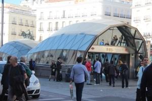 Cool metro entrance at Puerta del Sol