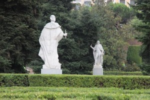 Statues in the gardens