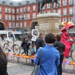 Cool art in the Plaza Mayor for the book festival