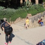 Some women taking glamour shots in Park Guell