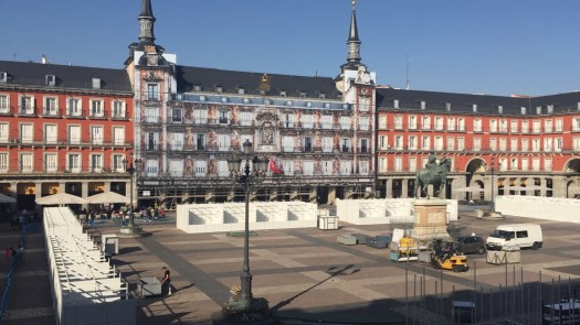 Plaza Mayor - view from our balcony