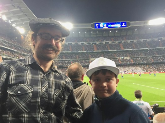 Rob and Spencer at the Real Madrid game